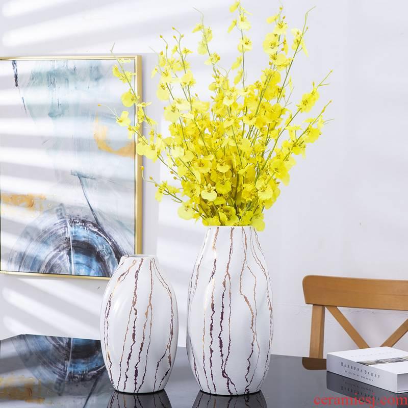 American ceramic vase furnishing articles light simulation TV ark, I household dried flowers flower arrangement table sitting room key-2 luxury decoration