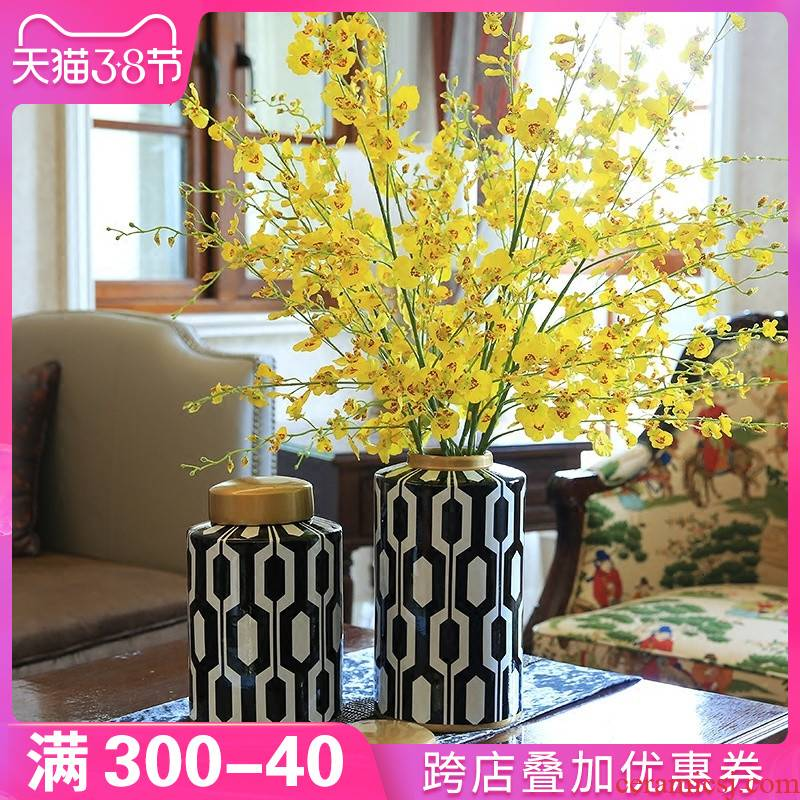 American household example room light vase key-2 luxury furnishing articles ceramic modern creative sitting room porch table decoration decoration