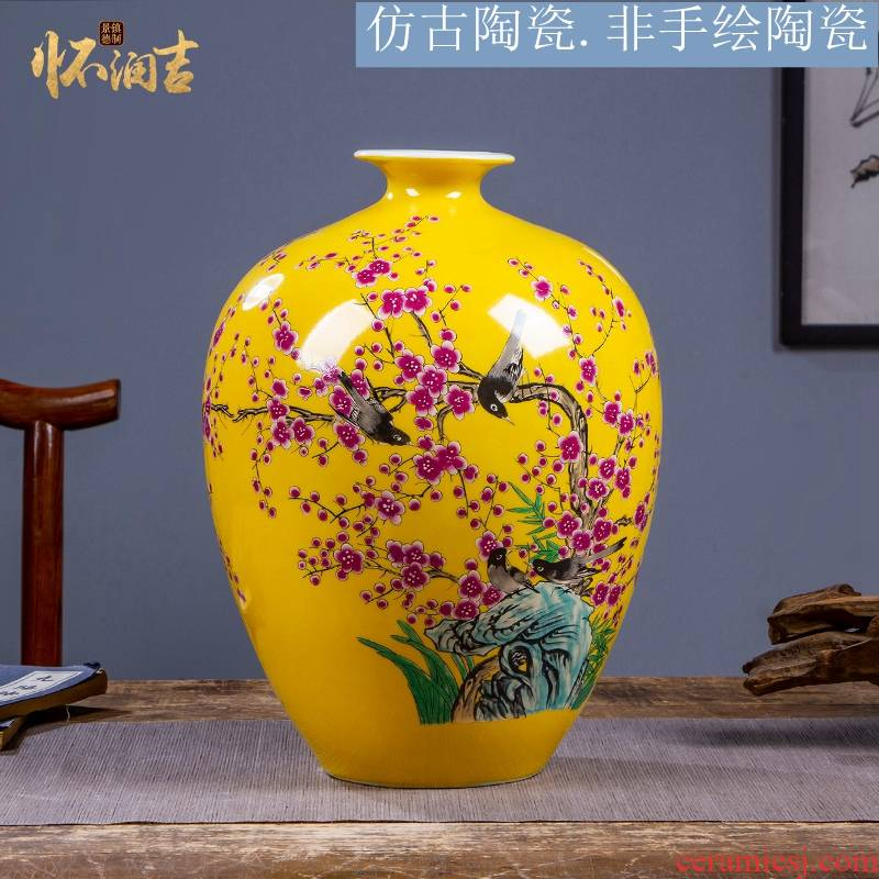 Jingdezhen ceramics vase furnishing articles flower arranging new sitting room of Chinese style household wine antique porcelain decoration process