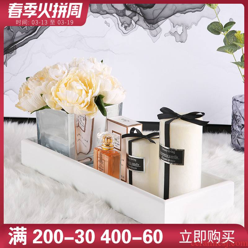 Bathroom sink soft outfit furnishing articles between example ceramic tile shop decoration fashion Bathroom wash gargle white tray