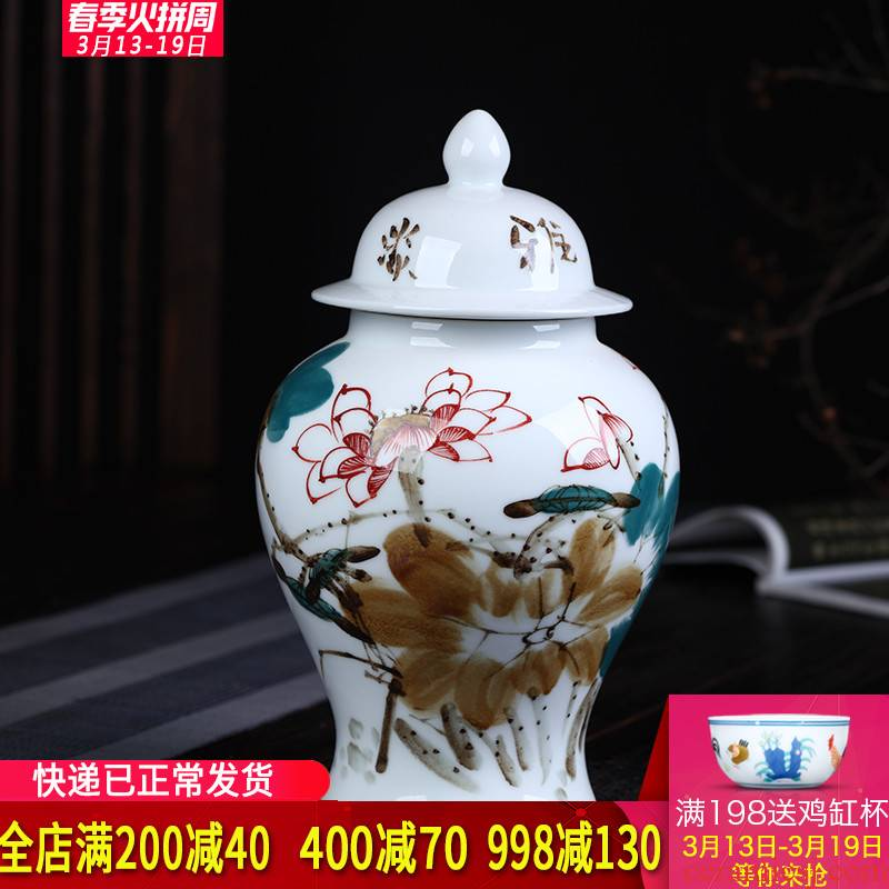 Jingdezhen ceramics hand - made enamel tank storage tank general furnishing articles archaize sitting room porch home decoration