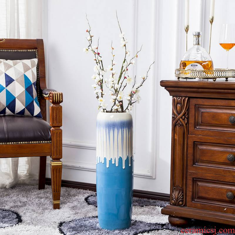 Jingdezhen big vase furnishing articles I and contracted sitting room ground dry flower arranging flowers adornment large - sized lucky bamboo decoration