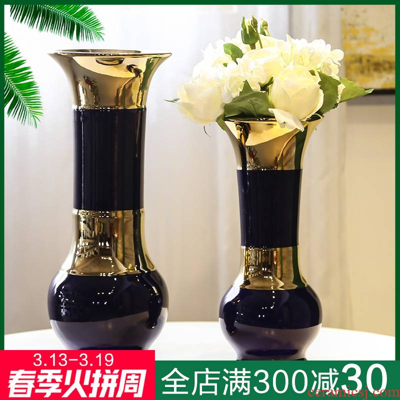 Jingdezhen ceramic vase sitting room place, a new Chinese style household adornment office table simulation flower arranging flowers