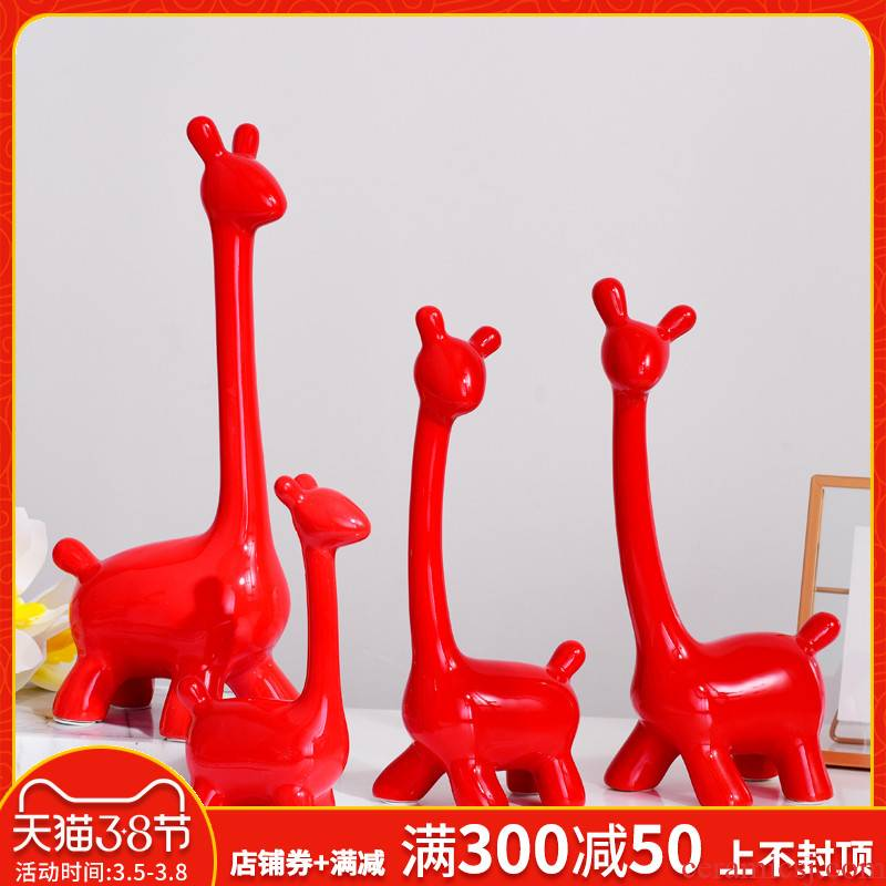 I and contracted ceramic furnishing articles furnishing articles home sitting room ark adornment room TV ark, animal decoration decoration
