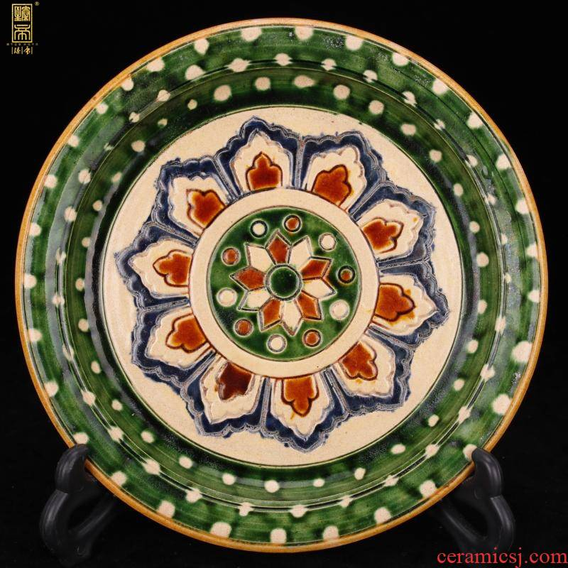 Jingdezhen tang - style antique antique tang sancai porcelain compote fine old vintage antique furnishing articles in living in adornment