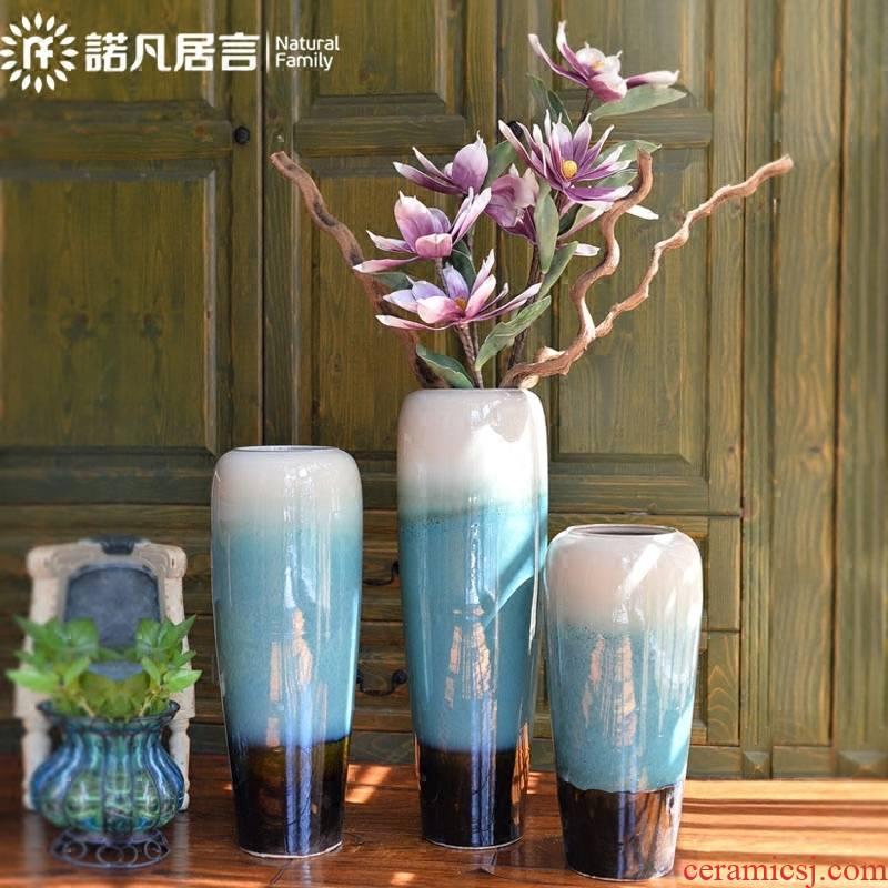 Large ceramic vase American ground flower arranging dried flower decoration European I sitting room porch decorate household furnishing articles