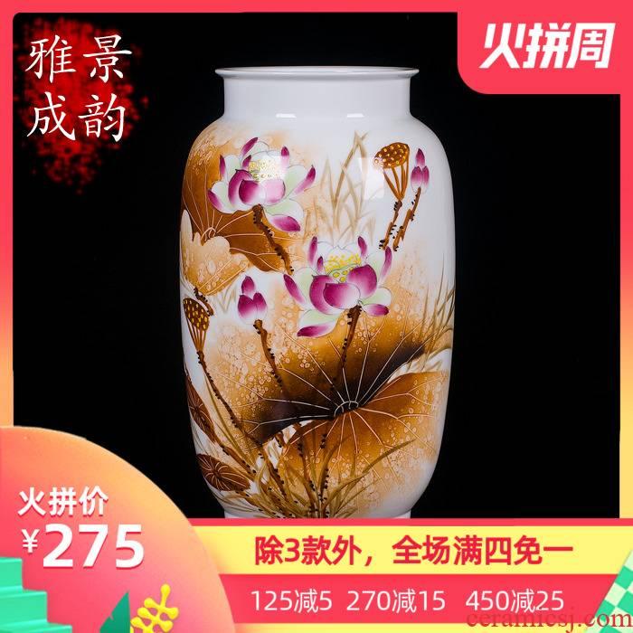 Jingdezhen ceramics vase of hydroponic mesa somebody else hand - made sitting room furnishing articles furnishing articles ikebana arts and crafts