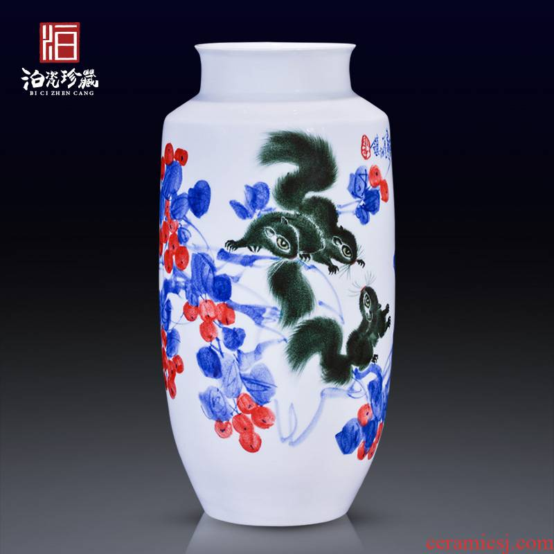China jingdezhen ceramic art master Zhu Zhengrong hand - made vases, new Chinese style household, sitting room adornment furnishing articles