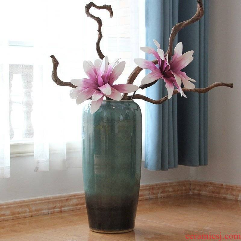 Ceramic POTS of jingdezhen Ceramic vase of large indoor and is suing landscape decoration decoration to the hotel living room furnishing articles