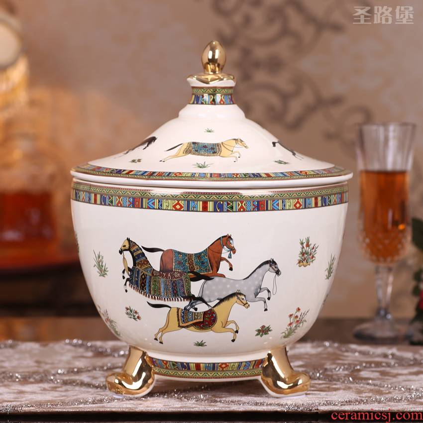 SAN road fort European ceramic furnishing articles creative move home decoration during the wedding candy box of a wedding gift