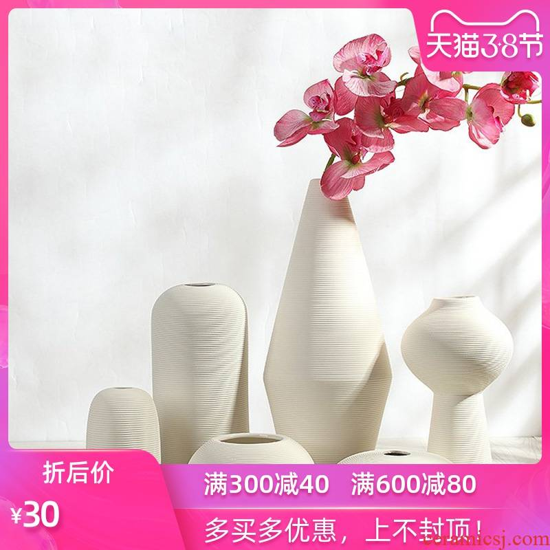 The mina Nordic ceramic flower implement furnishing articles creative I and contracted sitting room ground dry flower arranging flowers adornment household