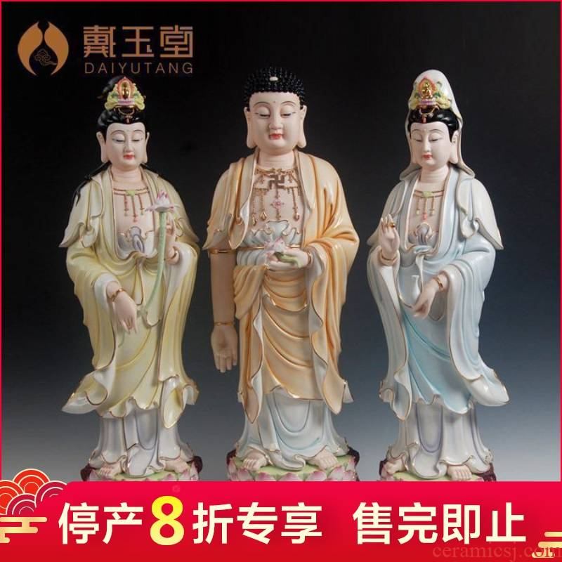 Master Lin Jiansheng ceramic production is pulled from the shelves 】 【 big Buddha furnishing articles 29 inches west three st