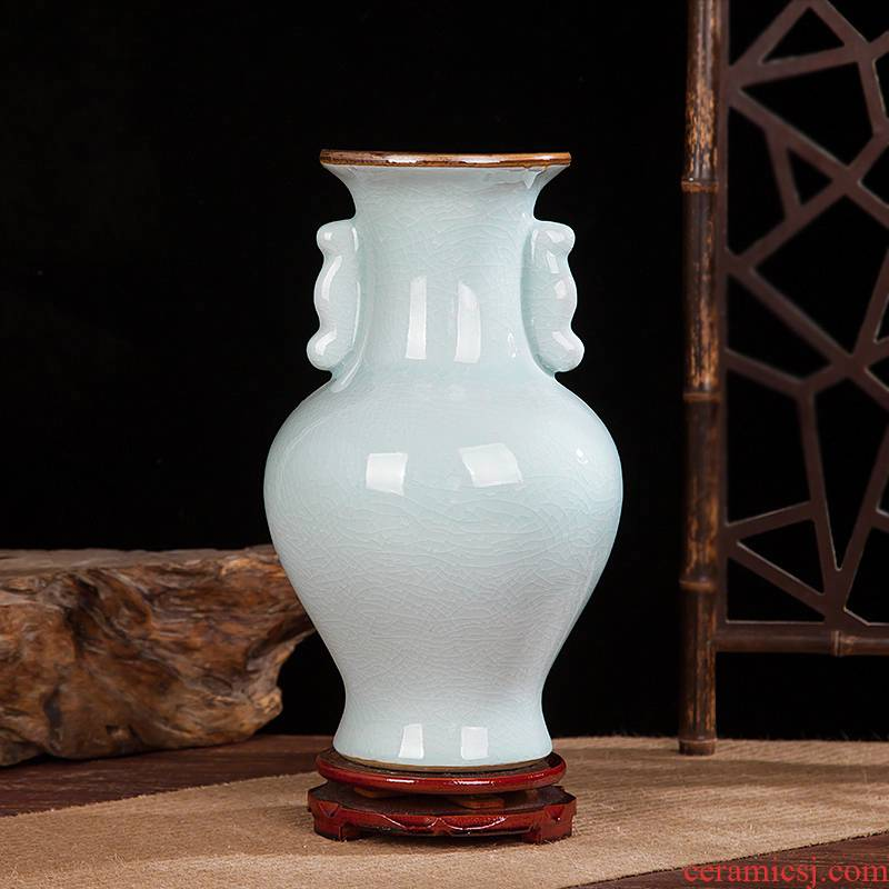 Jingdezhen ceramics vase of crack Chinese penjing flower arranging porcelain wine handicraft decorative household items