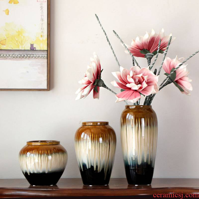 Flower arranging ceramic vase rose Flower arranging hydroponic lucky bamboo Flower pot dry Flower table furnishing articles porch decoration