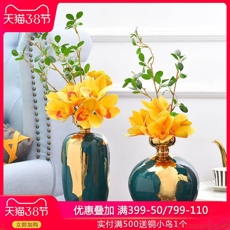 Modern light and decoration home decoration ceramic vase furnishing articles home sitting room light key-2 luxury table decoration H1076 arranging flowers