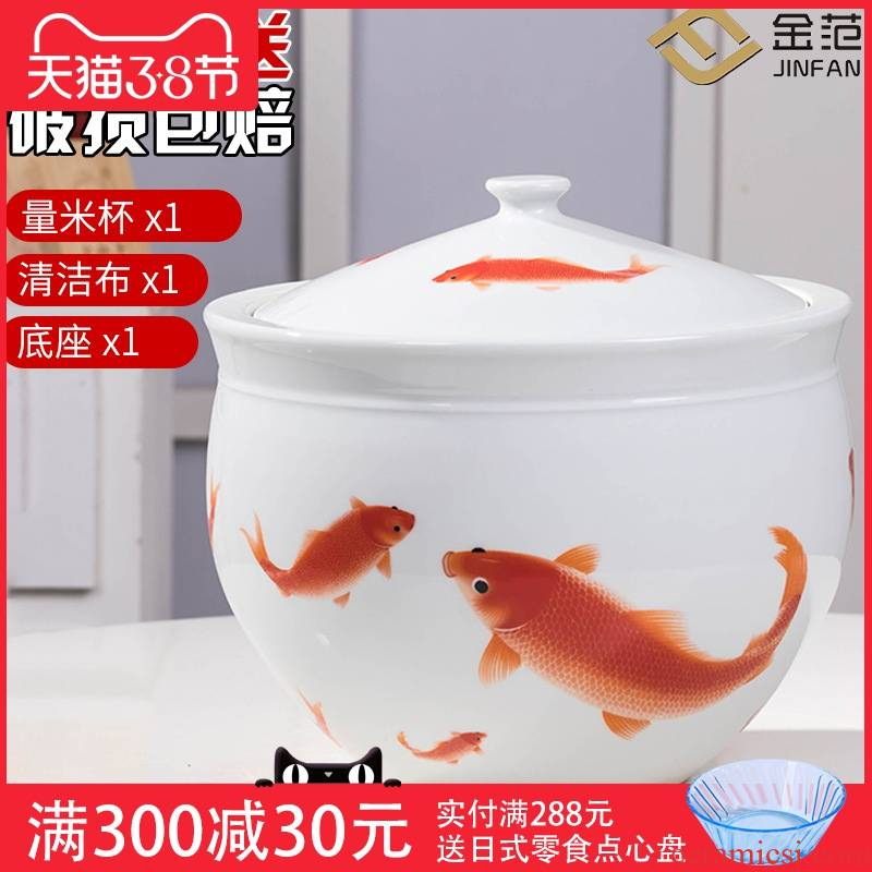 Ceramics ricer box barrel moistureproof insect - resistant seal 10 jins 20 jins home with cover tank pickle grain storage tank