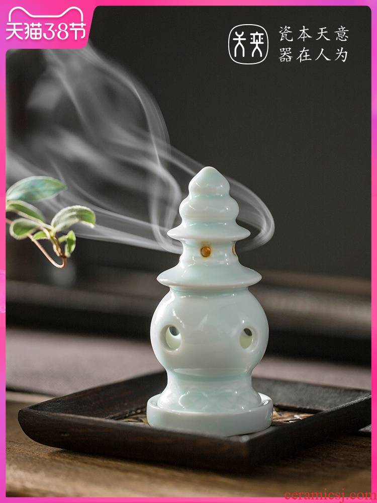 Wilson of the three pool reflected on day of jingdezhen ceramic small incense incense aloes nerves household indoor incense table