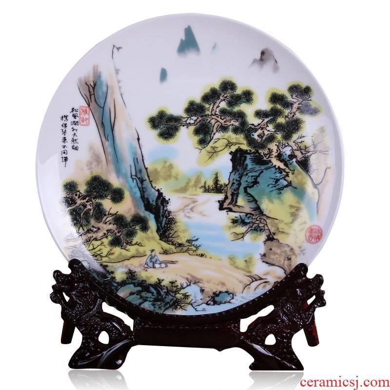 The Send stents jingdezhen ceramic mural decoration plate dish sat dish wine furnishing articles furnishing articles setting wall hanging plate