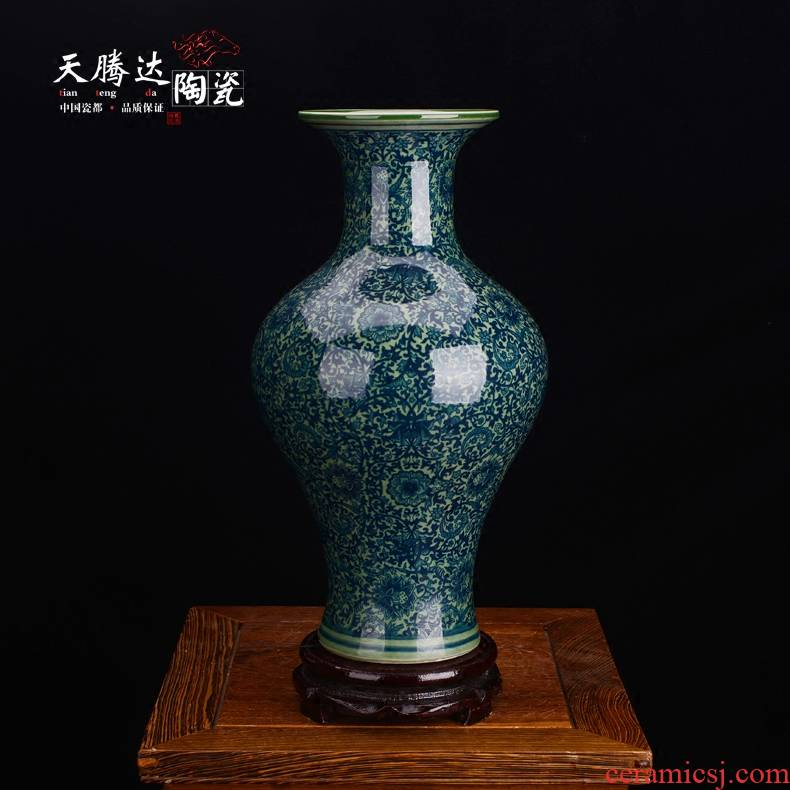 Jingdezhen Chinese antique porcelain ceramic vase TV ark adornment furnishing articles sitting room decoration flower arranging flowers