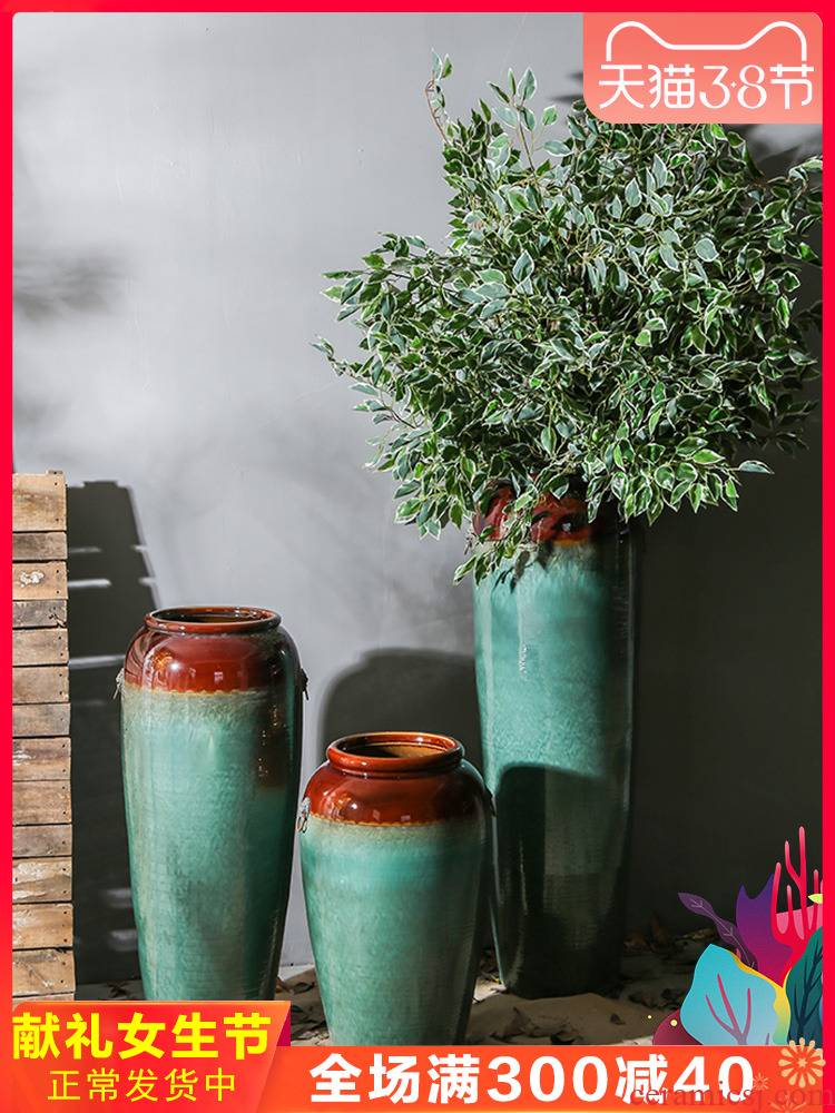Jingdezhen ceramic simulation flowers furnishing articles club hotel in the sitting room of large vase flower of new Chinese style decoration