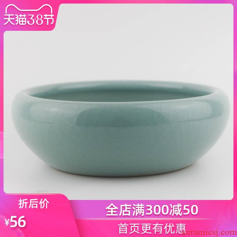 Strong sequence of jingdezhen ceramic water shallow small tortoise cylinder crackle creative China decoration household act the role ofing is tasted
