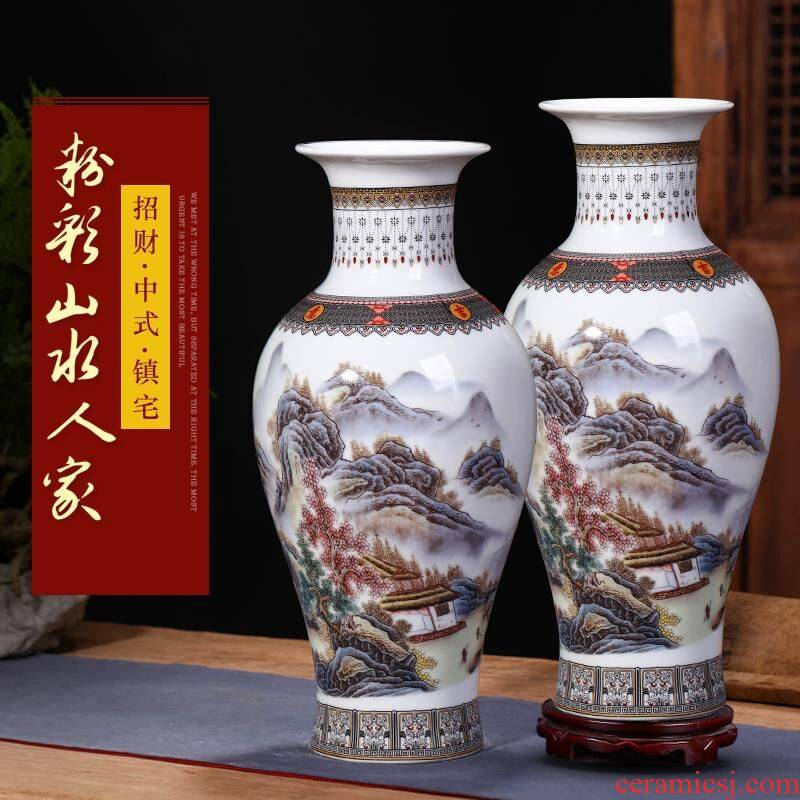 Jingdezhen ceramics vase flower arranging modern new Chinese style wine furnishing articles, the sitting room porch TV ark, adornment