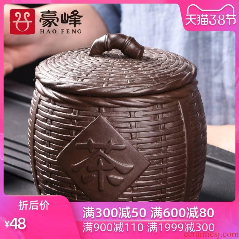 HaoFeng purple sand tea pot, household small storage tank pu 'er tea tea POTS awake ceramic seal storage tank
