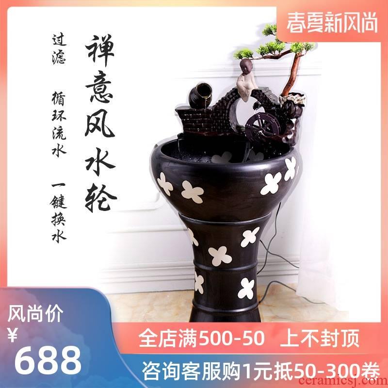 Jingdezhen to restore ancient ways small ceramic - oxygen tank circulation water filter fish bowl sitting room aquarium water furnishing articles