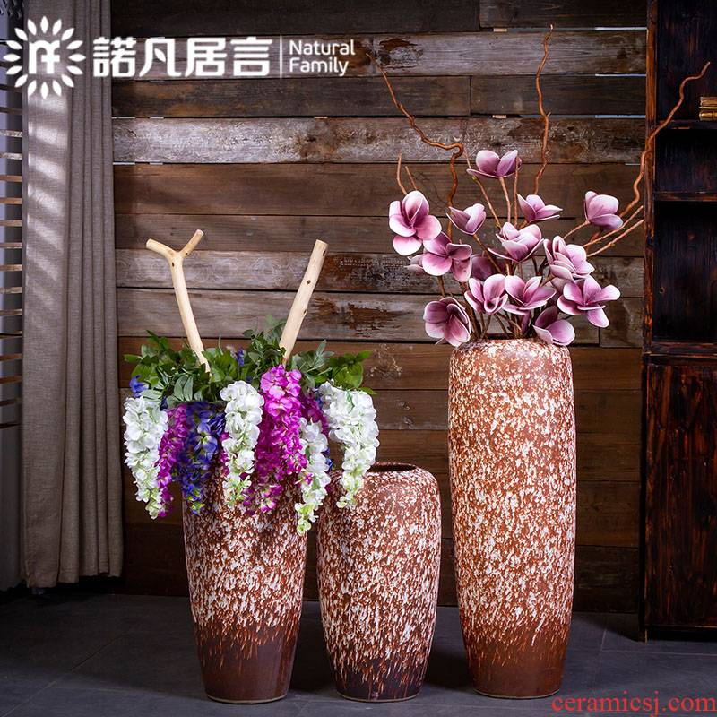 Ceramic vase landing coarse pottery to restore ancient ways do old flower arranging furnishing articles dry flower decoration to the hotel Europe type contracted large living room
