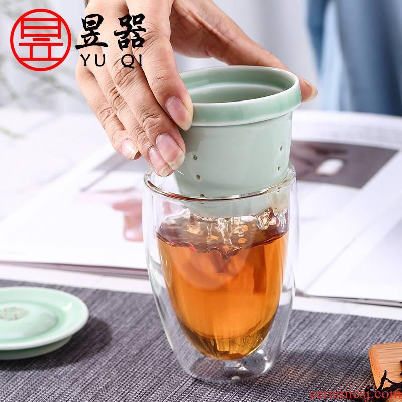 Yu machine glass ceramic bladder filter tea tea cups) glass home office tea cups