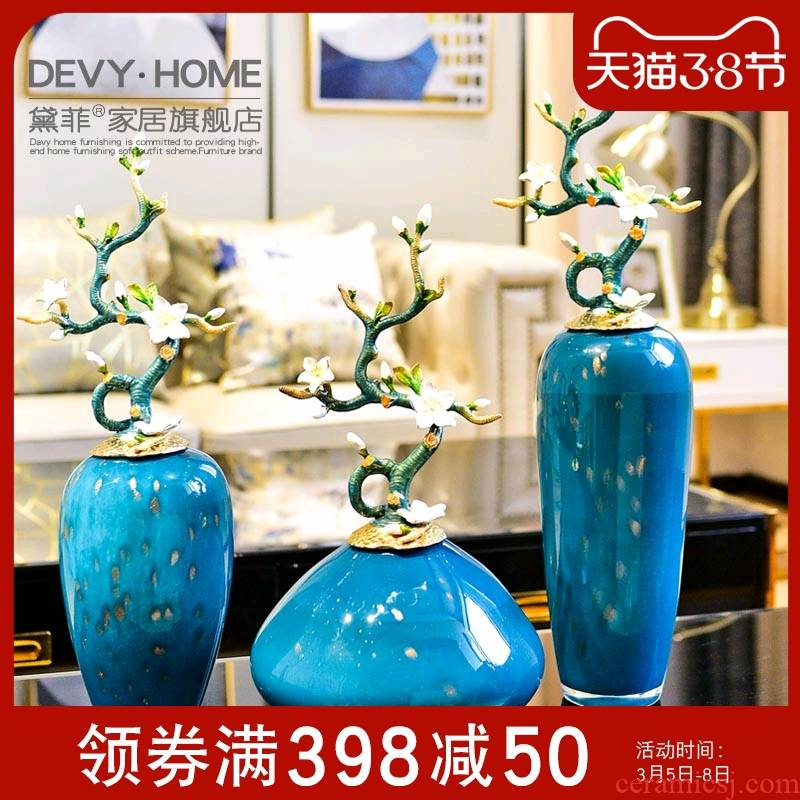High - end key-2 luxury furnishing articles household act the role ofing is tasted a large vase example room sitting room enamel porcelain decoration art ornaments