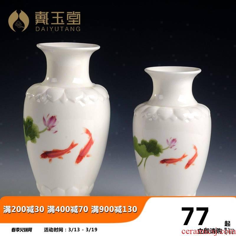 Yutang dai lotus Buddha incense inserted vase with buddhist worship supplies ceramic handicraft furnishing articles D17-16