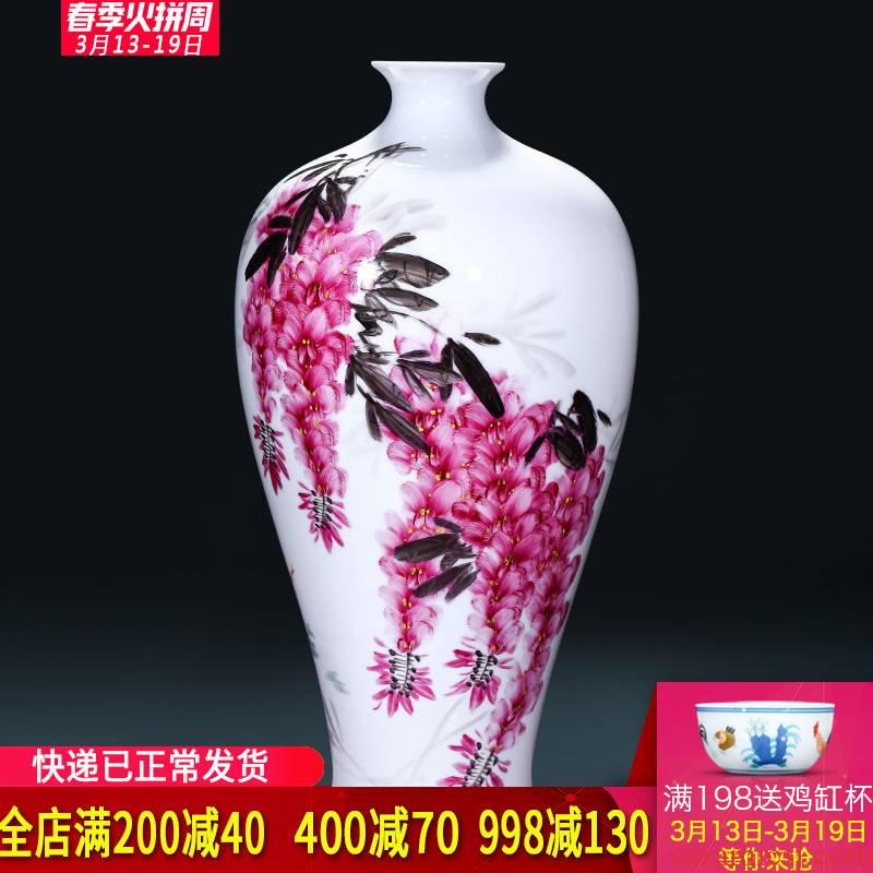 The Master of jingdezhen ceramics hand - made sabingga sukdun dergici jimbi vases, flower arrangement of Chinese style living room TV ark adornment furnishing articles