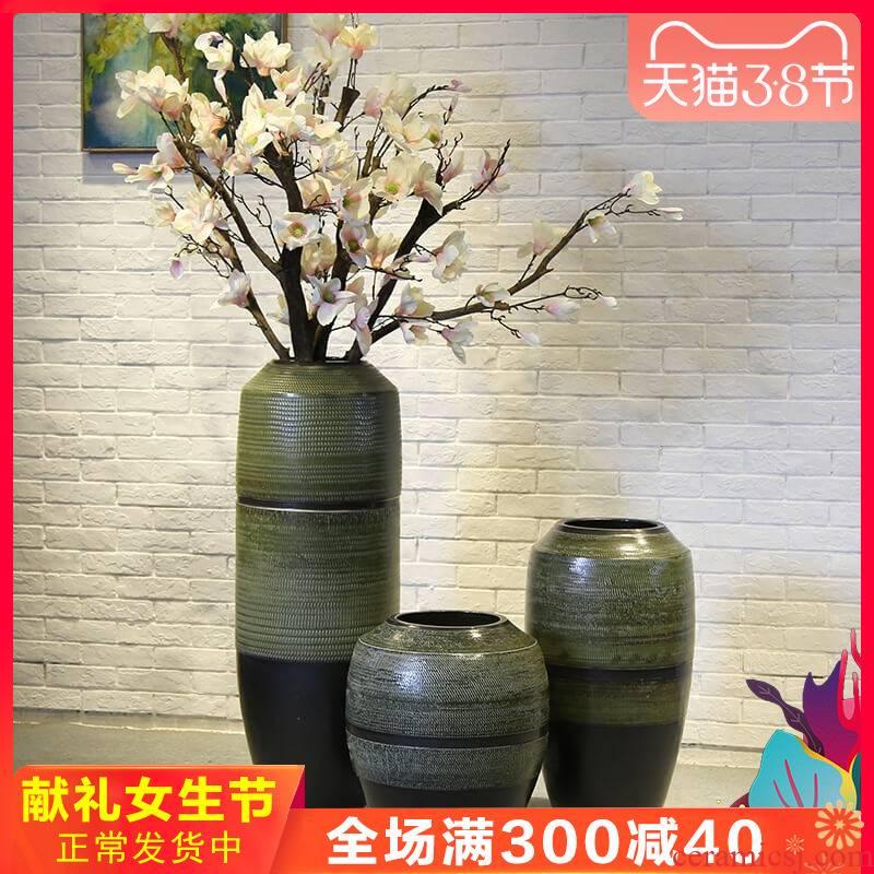 Jingdezhen new Chinese style villa hotel restaurant floor large - sized ceramic furnishing articles sitting room decoration vase club flower