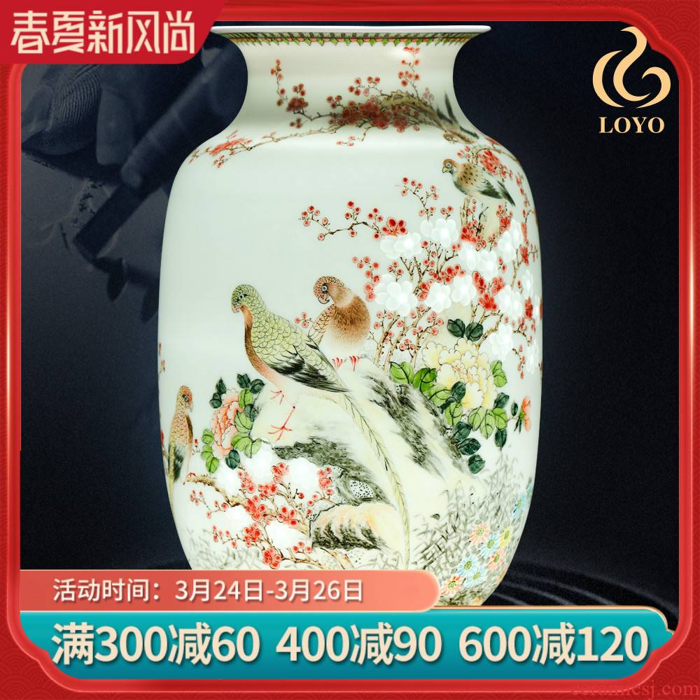 Jingdezhen ceramics vase hand - made color MeiKaiWuFu new Chinese style household living room TV cabinet decoration