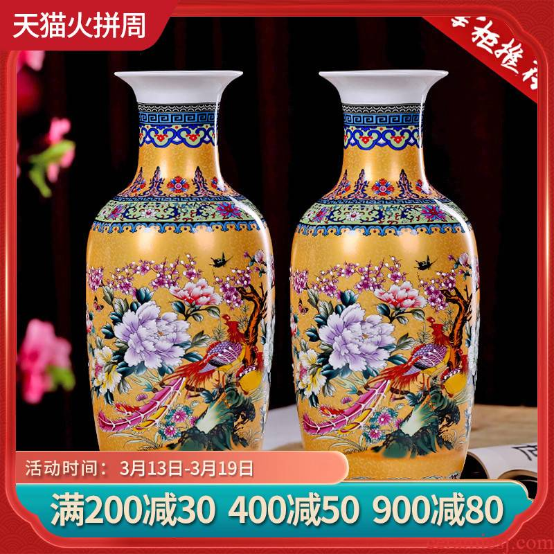 Jingdezhen ceramics handicraft sitting room be born big vase flower arranging Chinese style household adornment furnishing articles TV ark