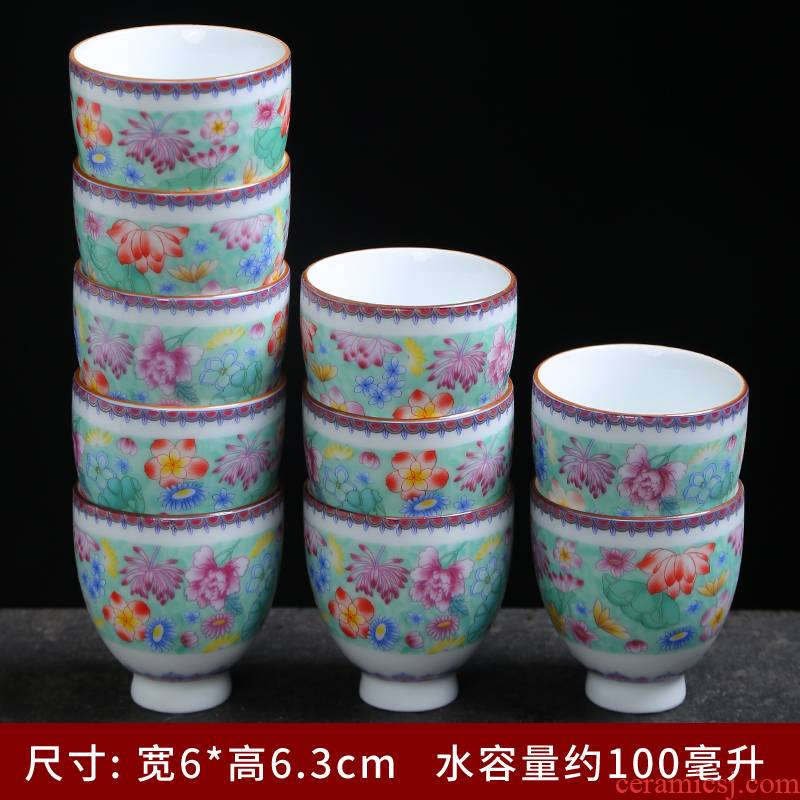Tasted silver gilding jingdezhen porcelain cup sample tea cup kung fu tea set ceramic masters cup a cup of tea light