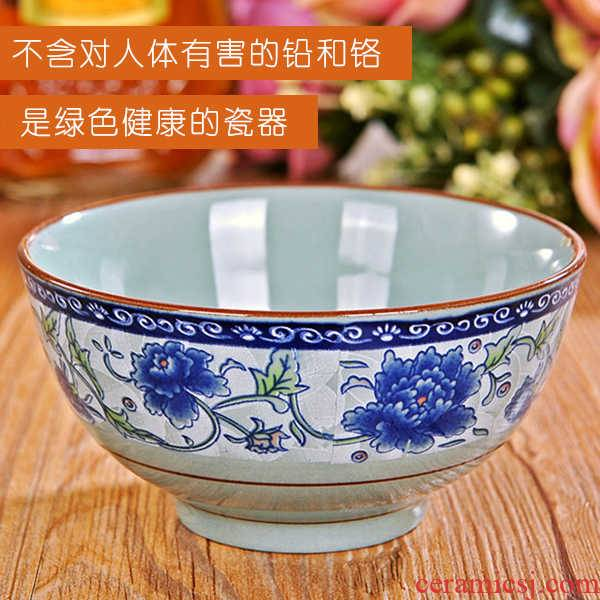 Blue and white porcelain dish suits for to eat rice bowl bowl rainbow such as bowl of rice bowl Chinese Japanese ceramics tableware of household hot