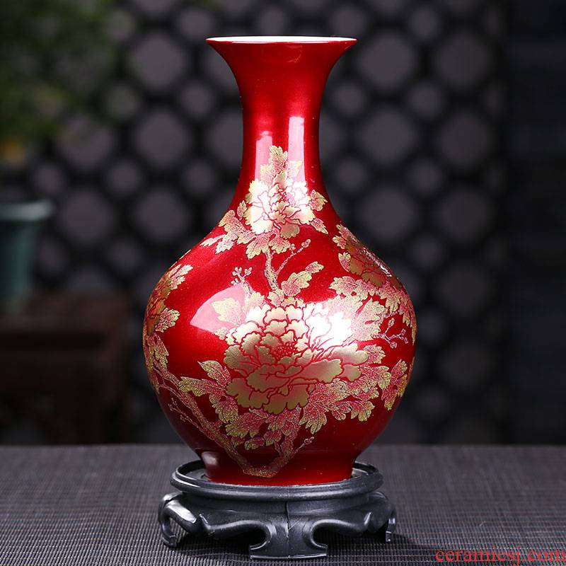 Jingdezhen ceramics vase is placed small pure and fresh and the sitting room TV ark, home decoration decoration creative arts and crafts