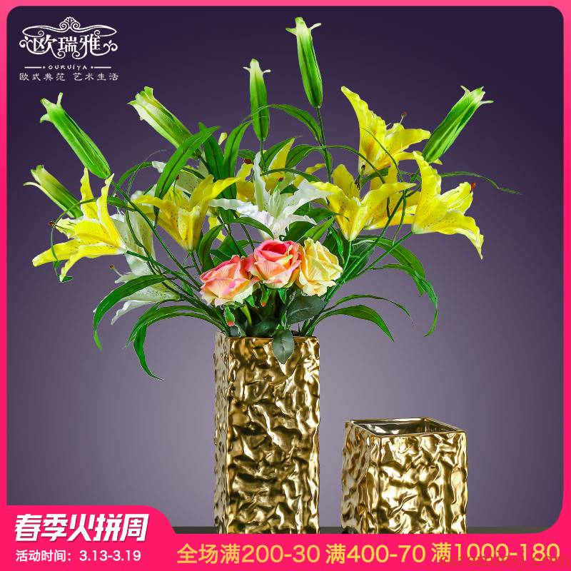 I and contracted ceramic vase place to live in the living room table flower arranging Europe type TV ark, the dried flower implement ornament