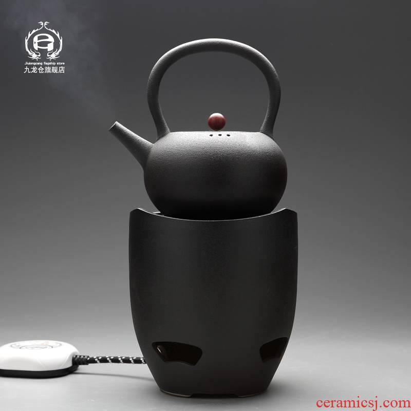 DH jingdezhen coarse pottery archaize boiled tea ware teapot cooked this teapot tea pu - erh tea, black tea electrothermal electric ceramic tea stove
