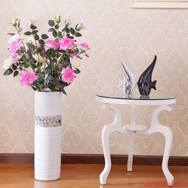 Jingdezhen I and contracted sitting room decorate ceramic floor vase soft furnishing articles household act the role ofing new home decoration