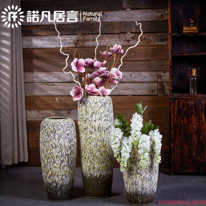 Jingdezhen ceramic vase landed coarse pottery furnishing articles dried flower arranging flowers restore ancient ways contracted sitting room hotel decoration decoration