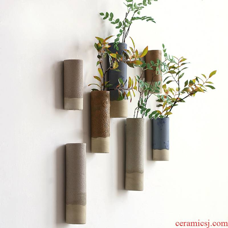 Japanese coarse pottery zen hanging vases, small ornament adornment contracted household ideas clear soup WoGuo arranging flowers