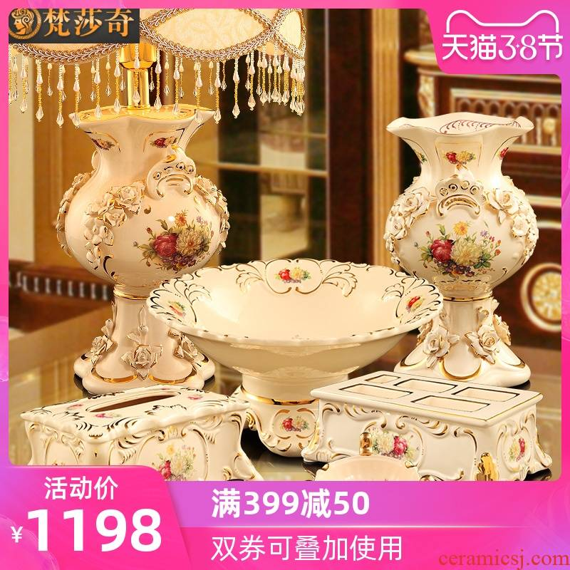 Vatican Sally 's European furnishing articles luxurious sitting room tea table ceramic decoration new wedding wedding gift girlfriends friend