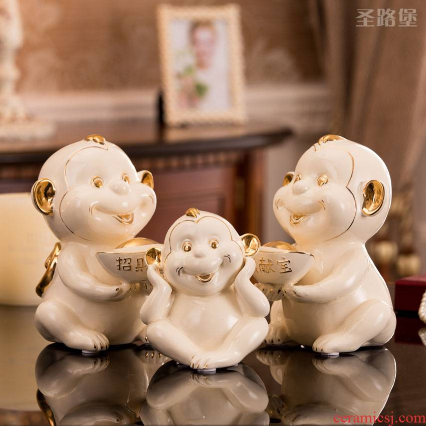 Fort SAN road ceramic creative monkey monkey furnishing articles decorations mascot home sitting room decoration gift wrap and mail