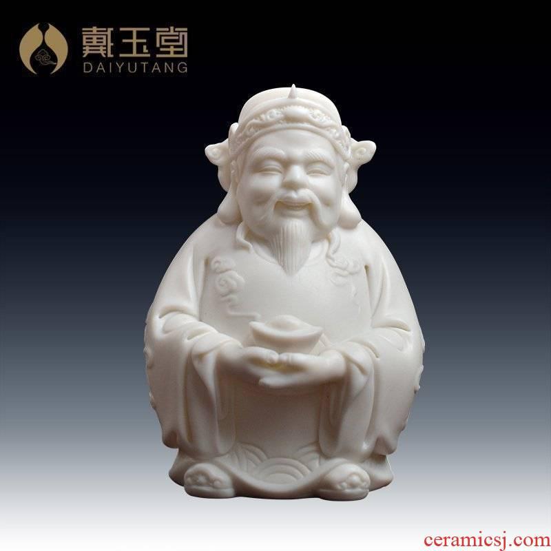 Yutang dai dehua white porcelain desktop car upholstery for ceramic furnishing articles/mammon lard white porcelain D01-060