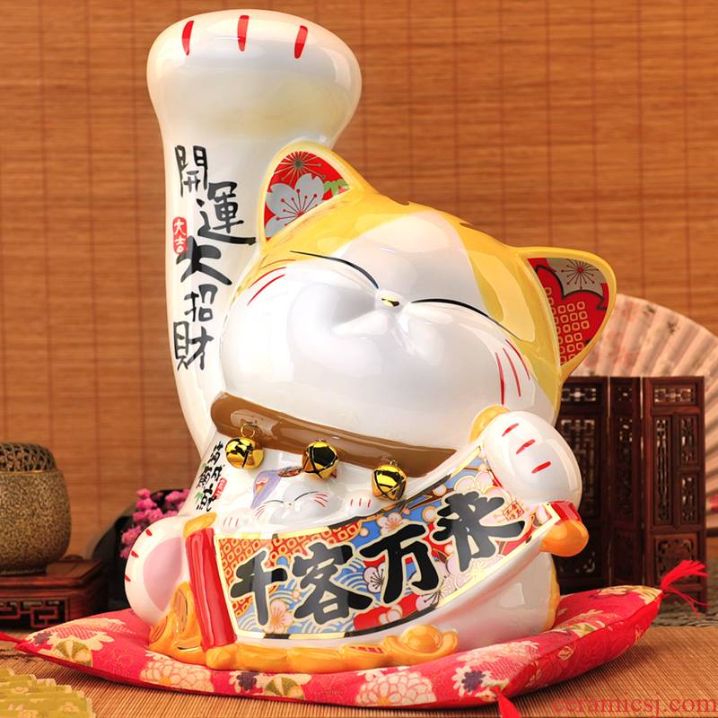Stone workshop the opened a big fortune ceramic business parthers big recruit blessing good luck furnishing articles plutus cat big housewarming gift