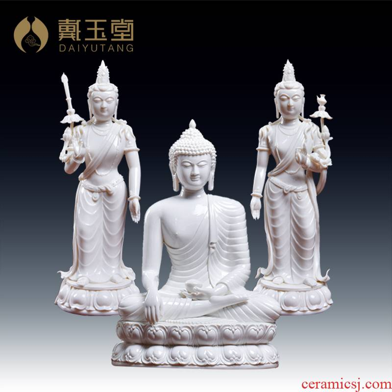 Yutang dai furnishing articles of handicraft ceramic figure of Buddha shakyamuni Buddha maitreya bodhisattva manjusri bodhisattva/D01-518