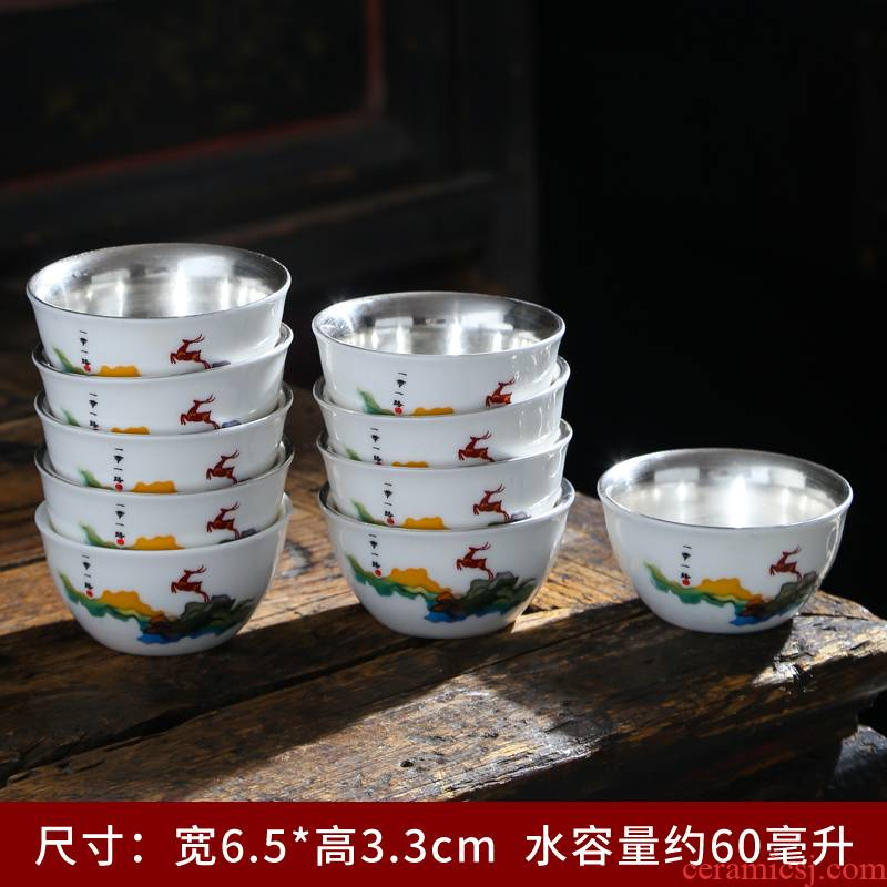 Dehua white porcelain ceramic sample tea cup kung fu tea cups suet jade porcelain cup tea cup ceramic masters cup
